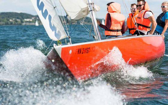Segelturn auf dem Bodensee (Bootstyp Dias/Trias)