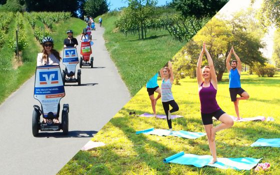 """segs and relax"" Segwaytour (PTi2) mit Yoga Session am See"
