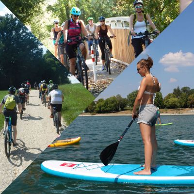 """bike and SUP"" E-Bike/E-MTB Tour + 2h SUP Session"
