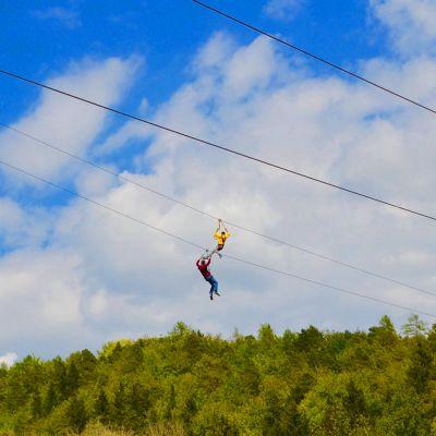 Abenteuer Steinbruch! Flying Fox Bodensee mit Abseilaction
