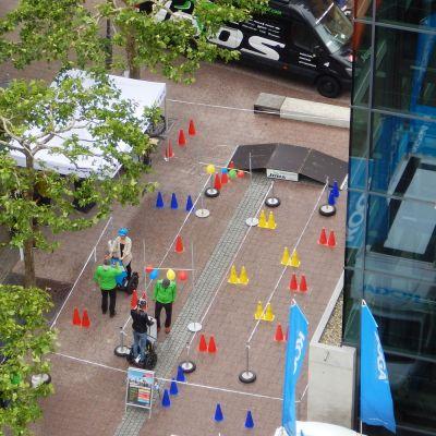 Parcours mit Segway PTi2 indoor outdoor