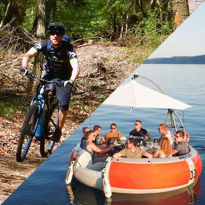 """""""King Kääs Tour"""" geführte E-MTB Tour mit Grillboot Einkehr"""