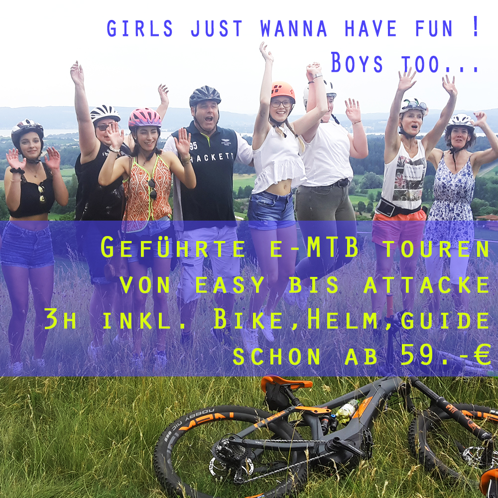 girls just wanna have fun on E-MTB ! Boys too!