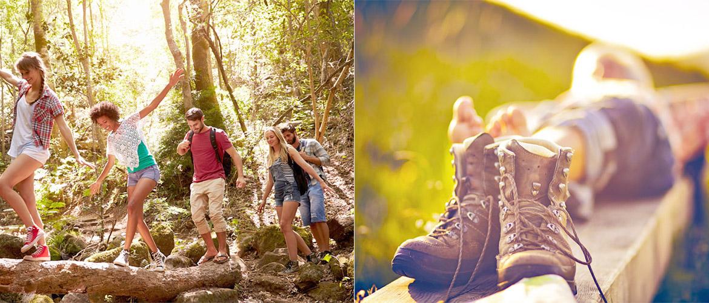 Kategoriebanner Wandern Klettern